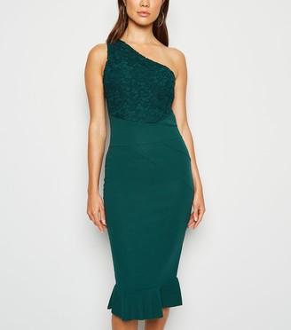 New Look AX Paris One Shoulder Midi Dress