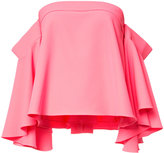 Milly off-shoulders flared blouse