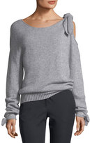 Derek Lam 10 Crosby Long-Sleeve Cashmere Sweater with Tie-Detail