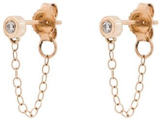 Melissa Joy Manning 14kt Yellow Gold Diamond Earrings