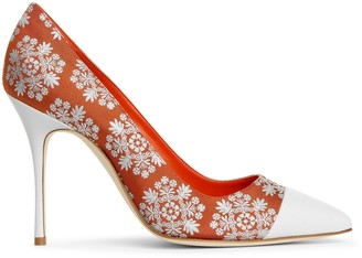 Manolo Blahnik Irene105 brocade pumps
