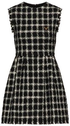 Valentino Wool-Rich Check Dress