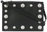 Versus studded shoulder bag - women - Cotton/Calf Leather - One Size