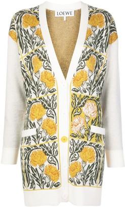 Loewe Intarsia Carnation Knitted Cardigan
