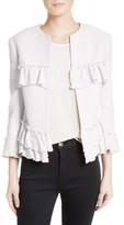 Helene Berman Women's Frill Tweed Jacket