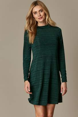 Wallis Green High Neck Swing Dress