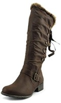 Jellypop Elta Women Round Toe Synthetic Brown Boot.