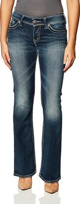 Silver Jeans Co. Women's Suki Mid Rise Bootcut Jeans
