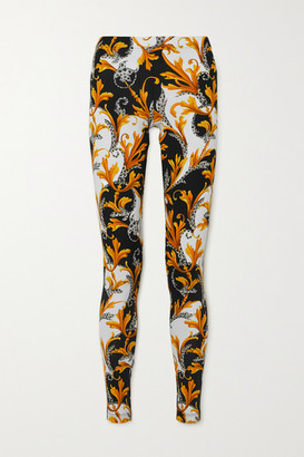 Versace Printed Stretch-jersey Leggings - White
