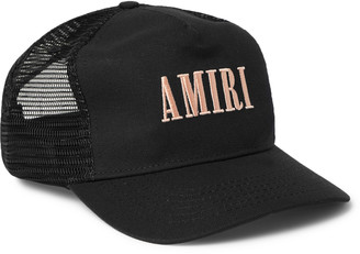 Amiri Logo-Embroidered Cotton-Canvas And Mesh Baseball Cap