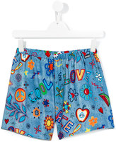 Moschino Kids - printed shorts - kids - Polyester/Spandex/Elastane - 14 yrs