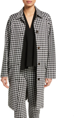Rosetta Getty Checked Cocoon Coat