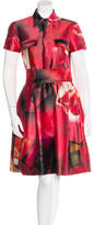 Naeem Khan Silk Abstract Print Dress