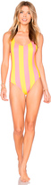 Solid & Striped The Anne Marie One Piece in Coral. - size XS (also in )