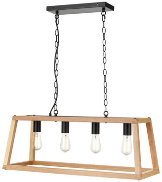 Light Society Bristol Wood Pendant Lamp