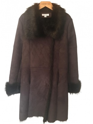 Calvin Klein Brown Coat for Women