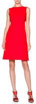 Giorgio Armani Sleeveless Cotton Overlay Dress, Scarlet