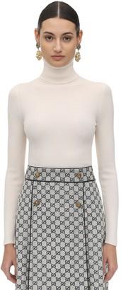 Gucci Back Logo Wool Knit Turtleneck Sweater