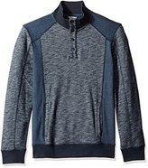 Calvin Klein Jeans Men's Cross Dye French Terry Crew Neck Sweatshirt