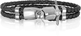 Forzieri Vespa Stainless Steel and Leather Men's Bracelet
