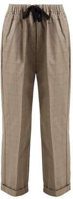 Chimala Checked-cotton Drawstring-waist Trousers - Womens - Brown