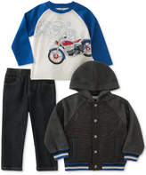 Kids Headquarters 3-Pc. Raglan, Jacket and Pants Set, Toddler (2T-5T)