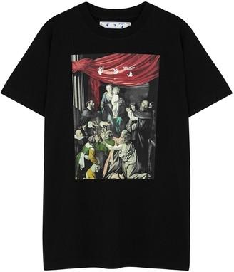 Off-White Caravaggio printed cotton T-shirt