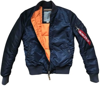 Alpha Industries Blue Synthetic Jackets