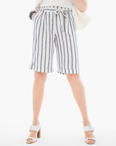 Chico's Striped Linen Shorts