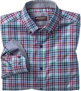 Johnston & Murphy Multi-Color Twill Check Button-Down Collar Shirt