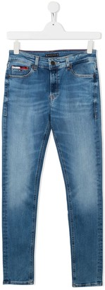 Tommy Hilfiger Junior TEEN mid-rise slim-fit jeans