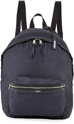 Saint Laurent Men's City Belt Bag/Fold-Up Backpack