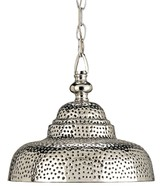 The Well Appointed House Perforated Nickel Plated Brass Pendant - ON BACKORDER - CALL FOR AVAILABILITY