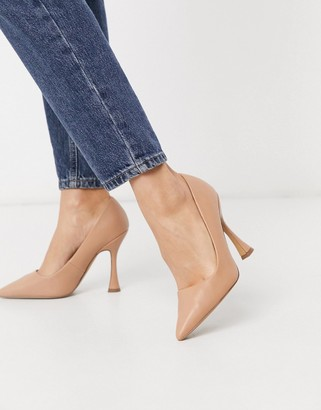 ASOS DESIGN Pippa pointed court shoes in camel