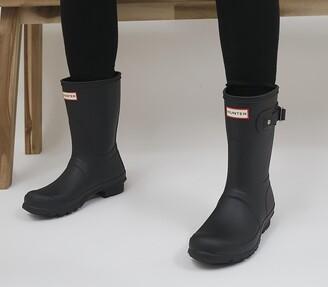 Hunter Womens Original Short Wellies Black