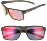 adidas Women's Whipstart 61Mm Sunglasses - Black Matte/ Blue Mirror