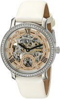 Stuhrling Original Women's 802.01 Legacy Analog Display Automatic Self Wind White Watch