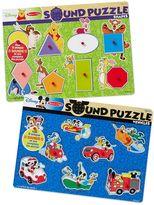 Melissa & Doug Disney's Winnie the Pooh & Mickey Mouse Sound Puzzle Bundle by