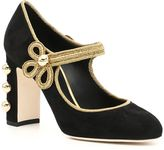 Dolce & Gabbana Suede Mary Jane Pumps