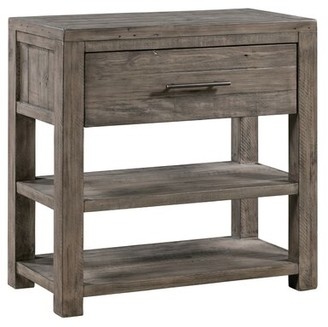 Pomona Distressed Recycled Pine 1 Drawer Accent Chest Gracie Oaks