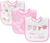 First Impressions Baby Girls' 3-Pack Pink Bibs, Only at Macy's
