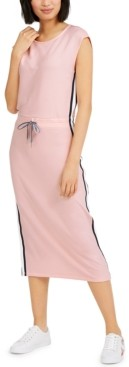 Tommy Hilfiger Cap-Sleeve Drawcord Midi Dress
