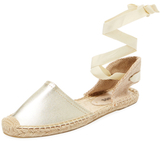 Soludos Classic Leather Ankle-Wrap Espadrille