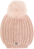 Moncler classic knitted beanie hat - women - Wool/Polyamide/Viscose/Cashmere - One Size