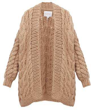 I Love Mr Mittens Chunky Cable Knit Wool Cardigan - Womens - Beige