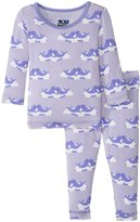 Kickee Pants Print Pajama Set (Baby) - Lilac Seals - Newborn