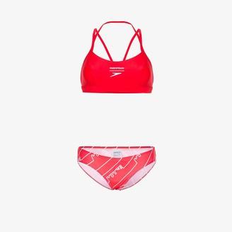 House of Holland Logo Print Spandex Bikini