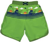 I Play Ultimate Swim Diaper Panel Boardshorts (Baby/Toddler) - Lime-M (12M)