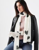 Alice Hannah Knitted Heart Scarf