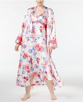 Thalia Sodi Plus Size Floral-Print Long Wrap Robe, Only at Macy's